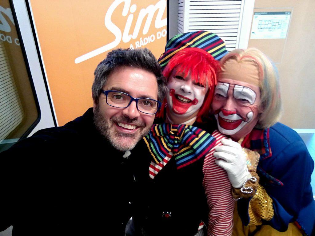 Dia do Riso, Dia Internacional do Riso, Radio Sim, Nilton, Palhaço Croquete, Vira Vento, Palhaços, Humoristas, Rir, Riso, Palhaço, Alegria, Dia Mundial
